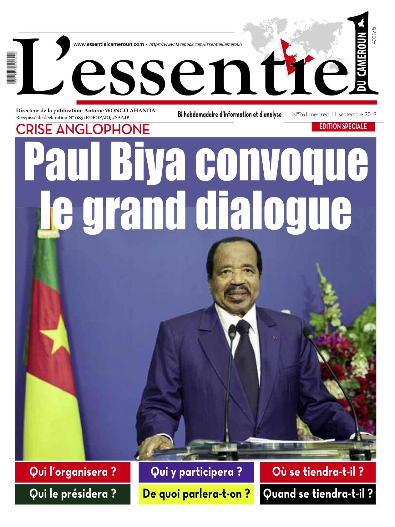 L'essentiel du Cameroun - 11/09/2019