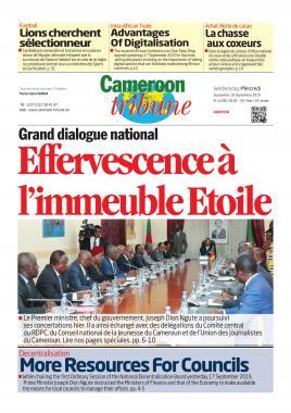 Cameroon Tribune - 18/09/2019