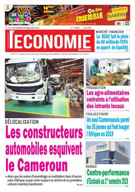 Le Quotidien de l'Economie - 06/09/2019