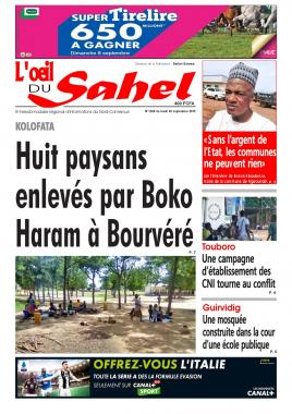 L'oeil du Sahel - 02/09/2019