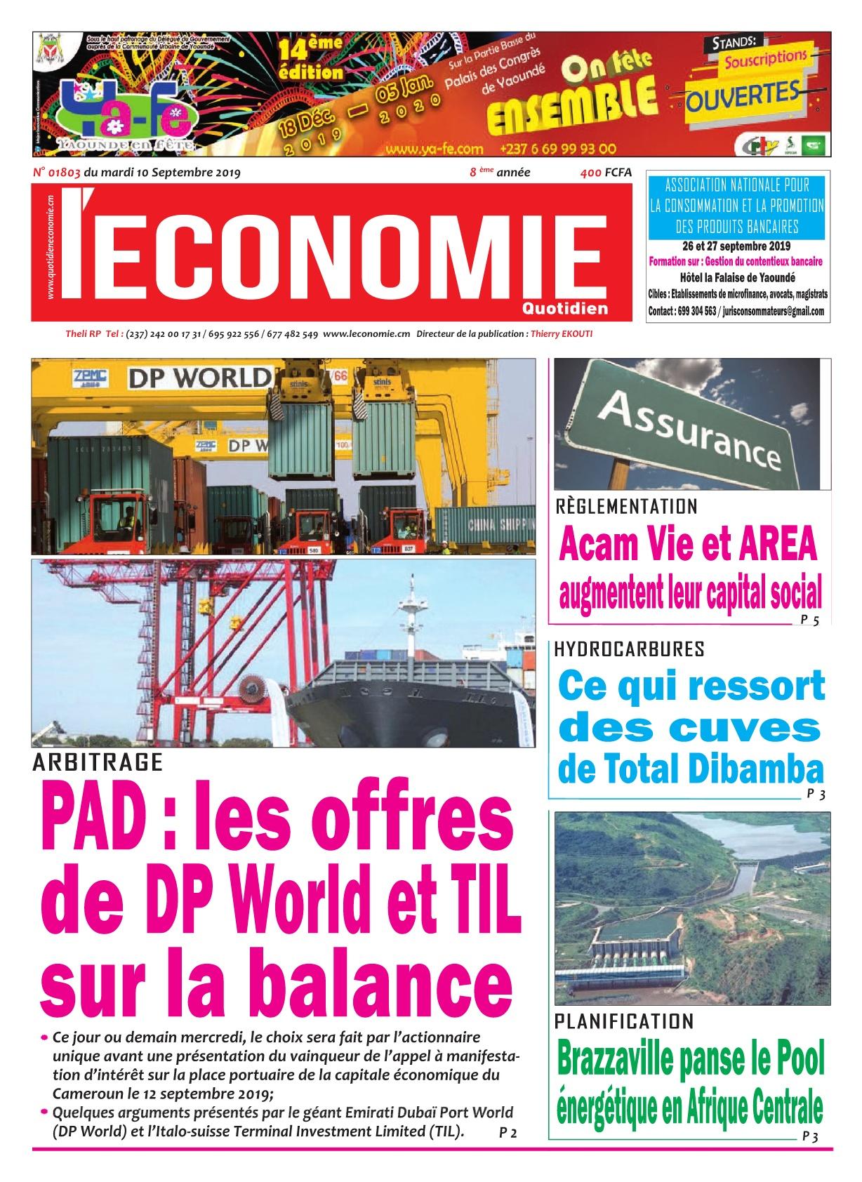 Le Quotidien de l'Economie - 10/09/2019