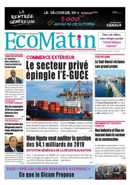 Ecomatin - 25/09/2019
