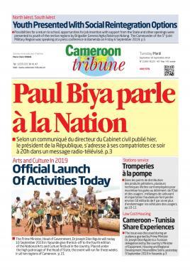 Cameroon Tribune - 10/09/2019