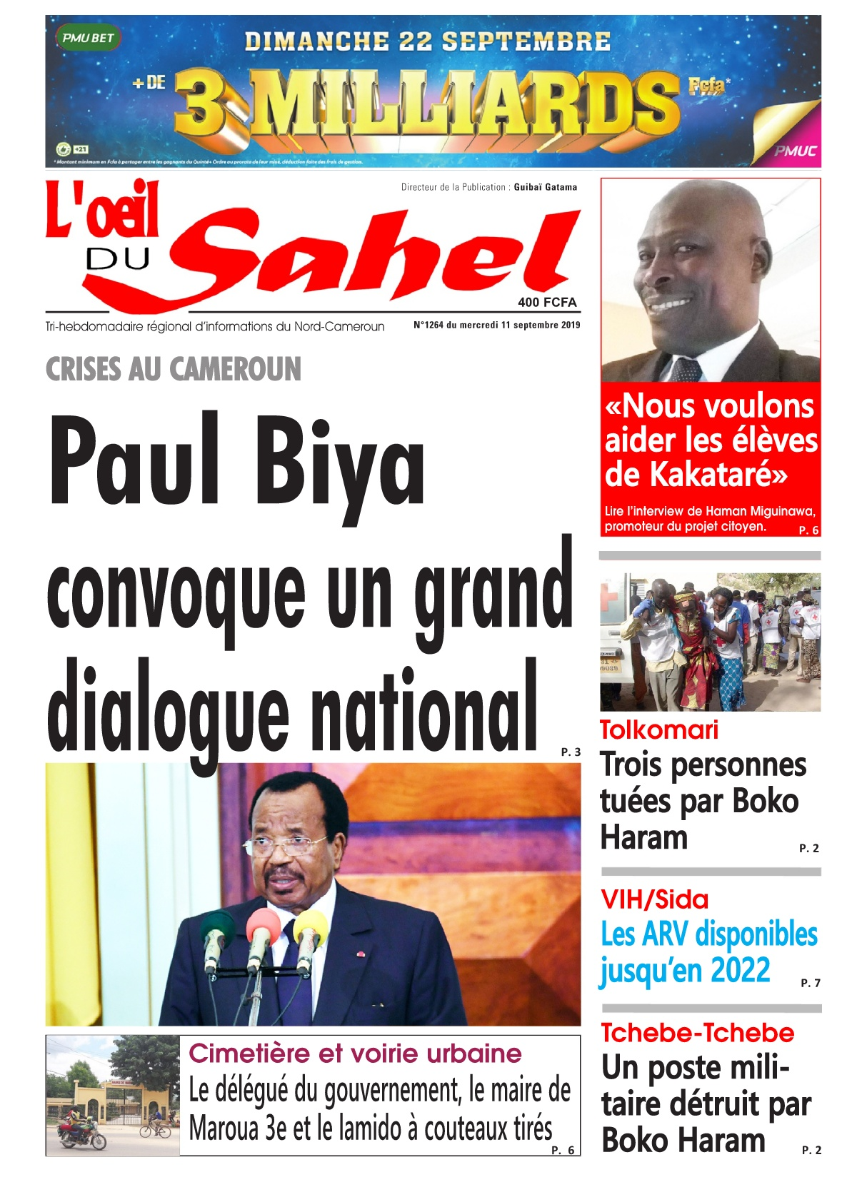 L'oeil du Sahel - 11/09/2019