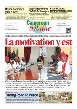 Cameroon Tribune - 16/09/2019
