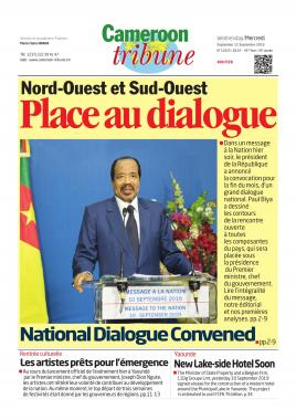 Cameroon Tribune - 11/09/2019