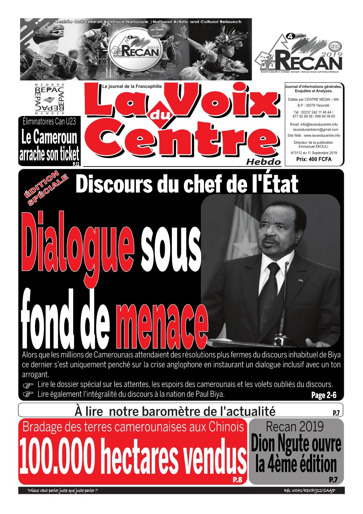 LA VOIX DU CENTRE - 11/09/2019