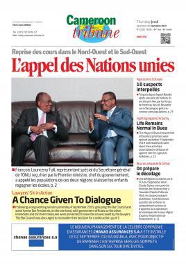 Cameroon Tribune - 05/09/2019