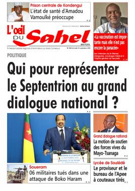 L'oeil du Sahel - 16/09/2019