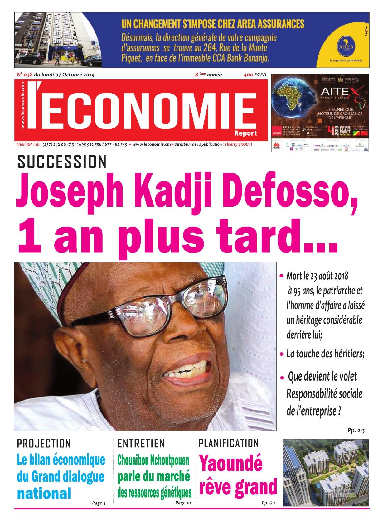 Le Quotidien de l'Economie - 07/10/2019