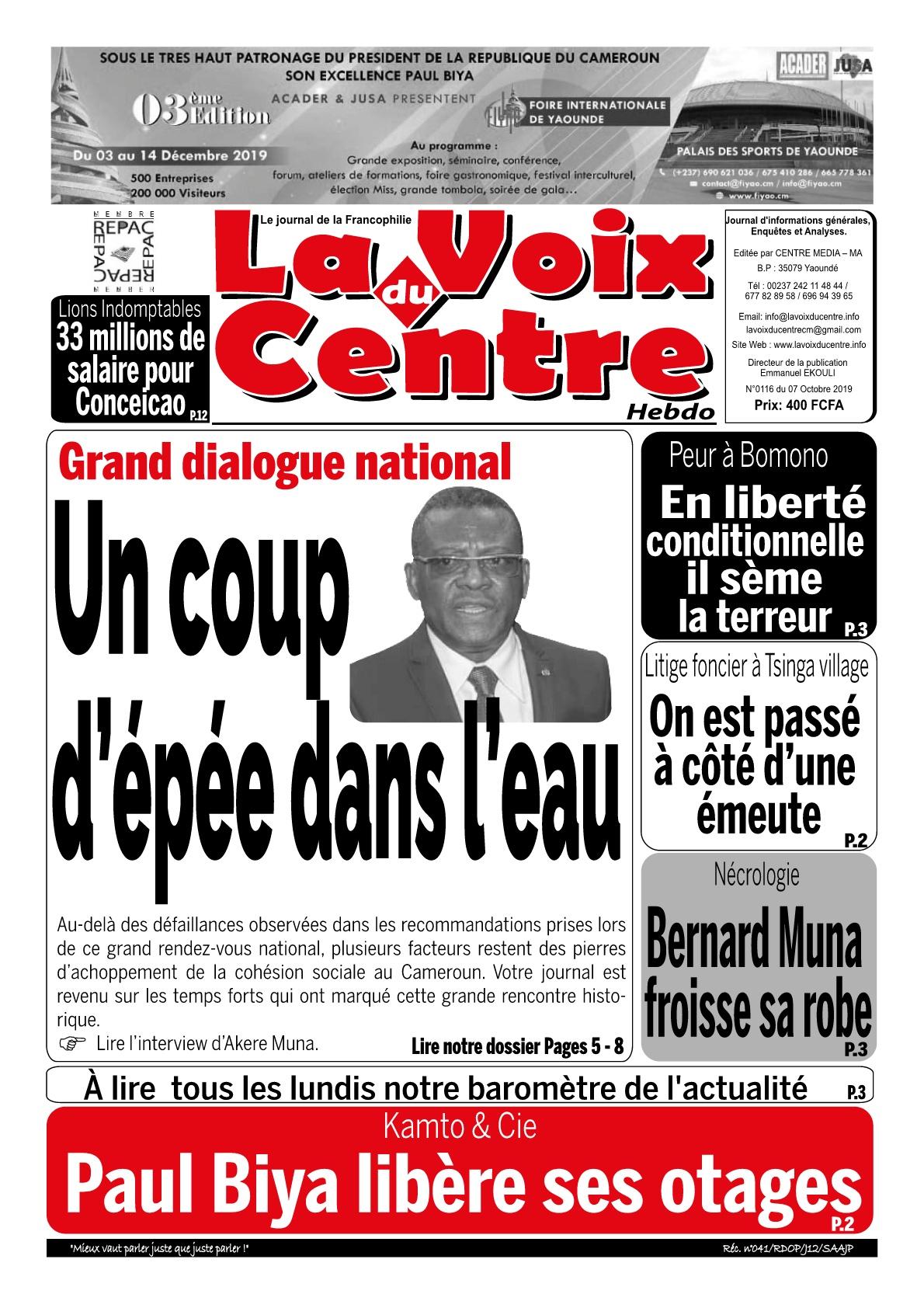 LA VOIX DU CENTRE - 07/10/2019