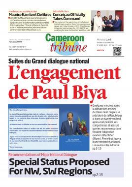 Cameroon Tribune - 07/10/2019