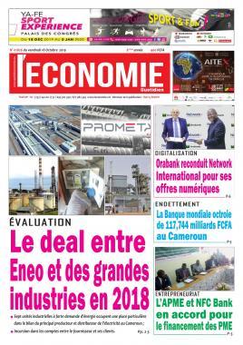 Le Quotidien de l'Economie - 18/10/2019