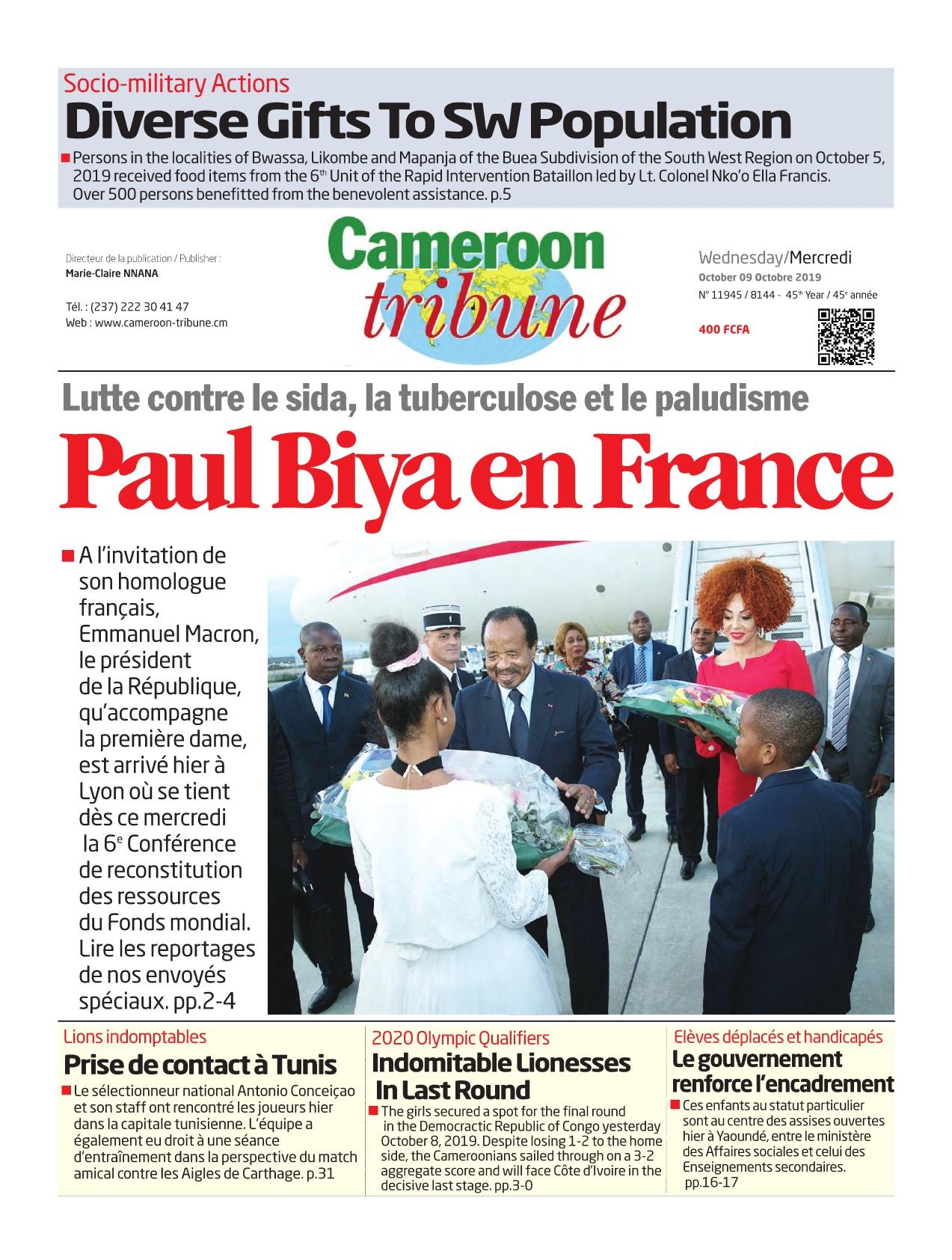 Cameroon Tribune - 09/10/2019