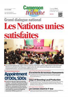 Cameroon Tribune - 08/10/2019