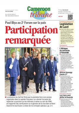 Cameroon Tribune - 15/11/2019