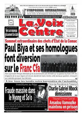 LA VOIX DU CENTRE - 25/11/2019