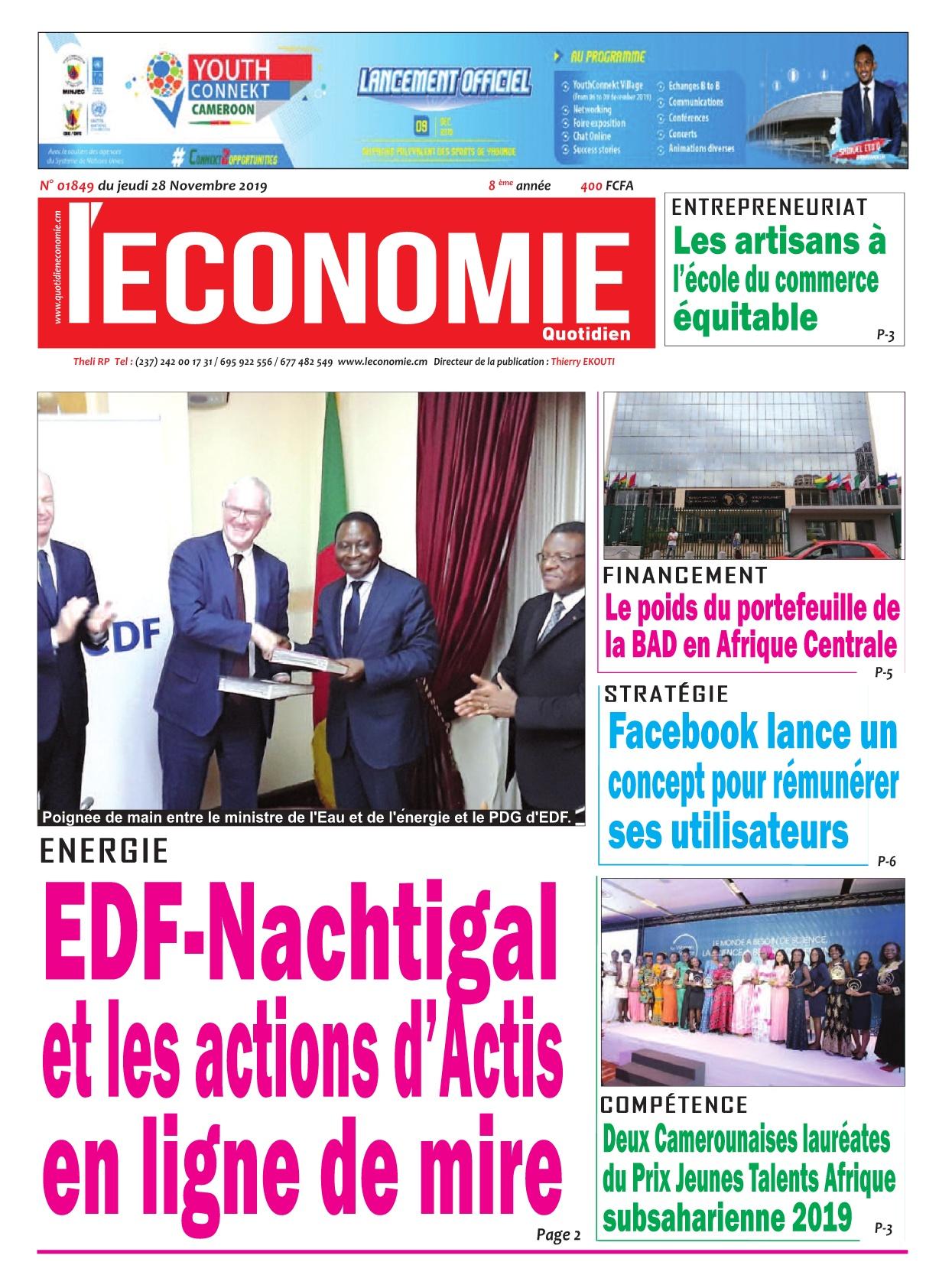 Le Quotidien de l'Economie - 28/11/2019