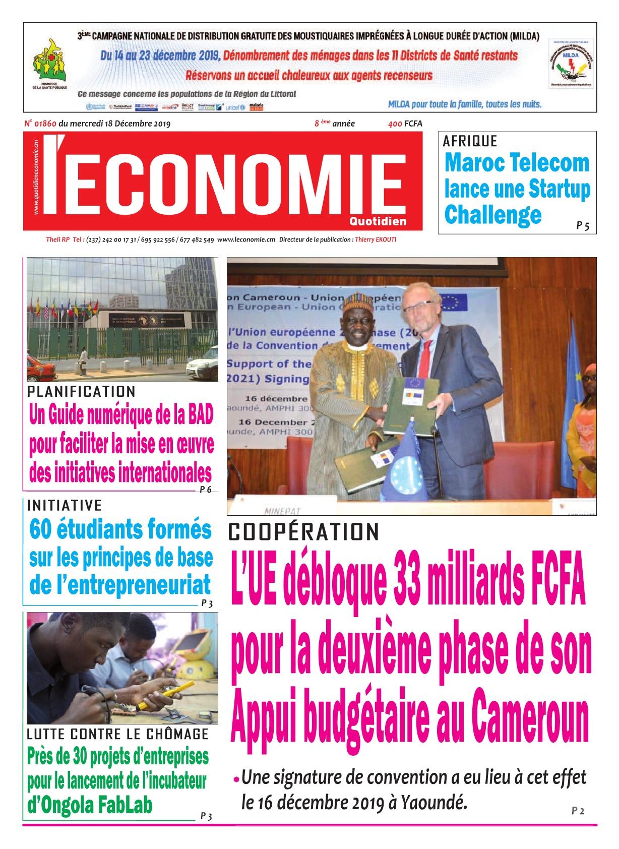 Le Quotidien de l'Economie - 18/12/2019