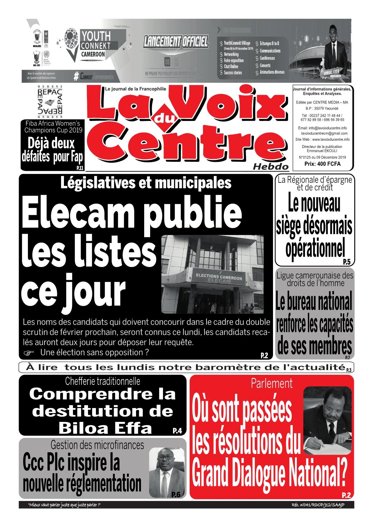 LA VOIX DU CENTRE - 09/12/2019