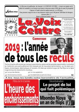 LA VOIX DU CENTRE - 16/12/2019