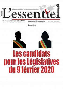 L'essentiel du Cameroun - 12/12/2019
