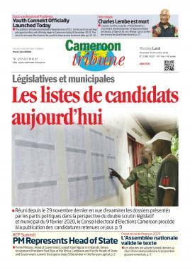Cameroon Tribune - 09/12/2019