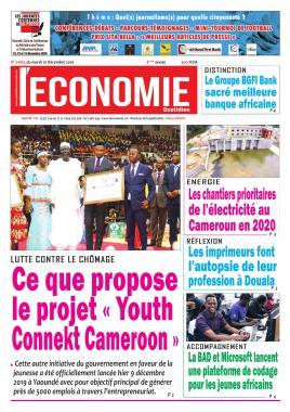 Le Quotidien de l'Economie - 10/12/2019