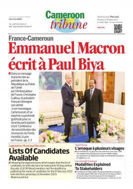 Cameroon Tribune - 11/12/2019