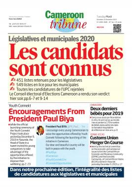 Cameroon Tribune - 10/12/2019