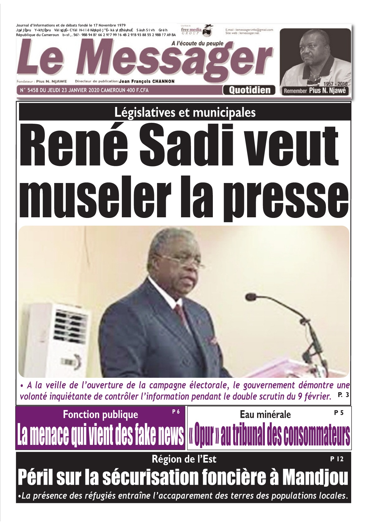 Le Messager - 23/01/2020