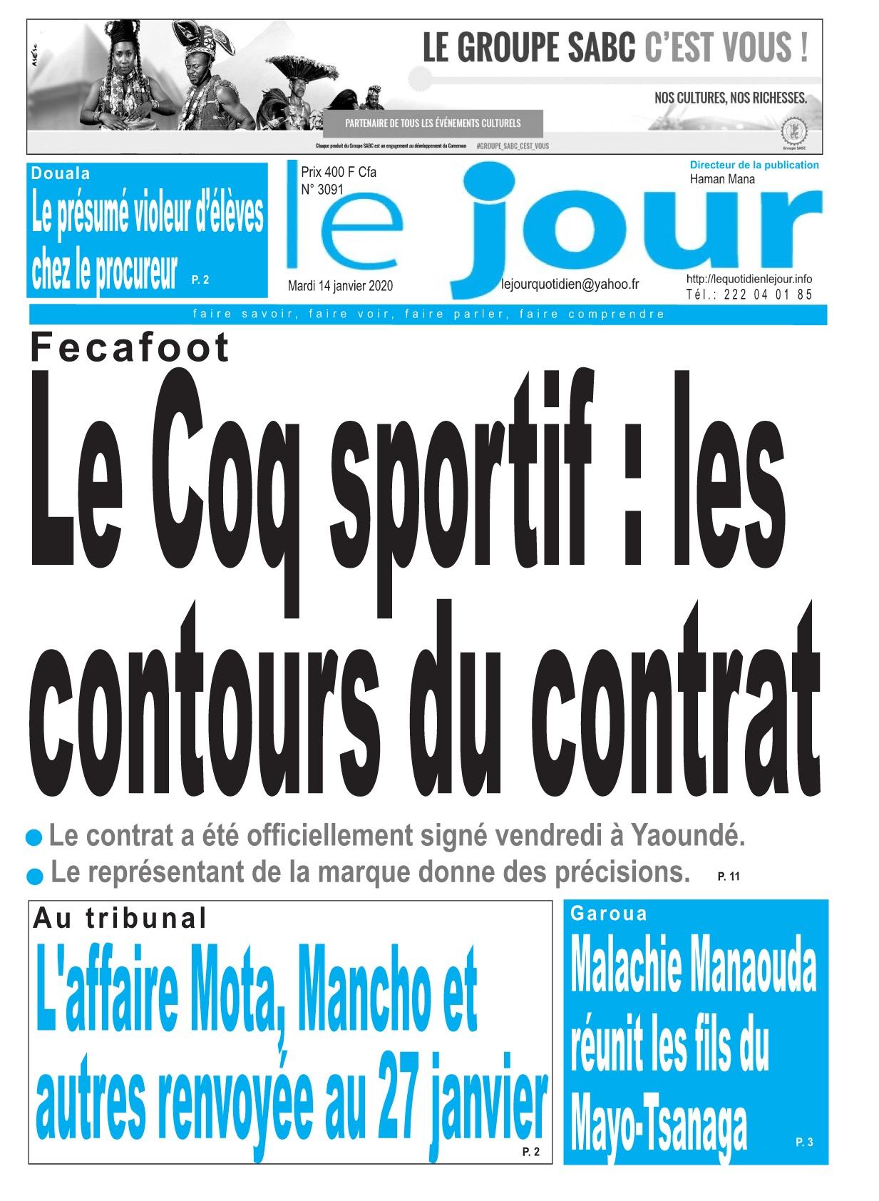 Le Jour - 14/01/2020