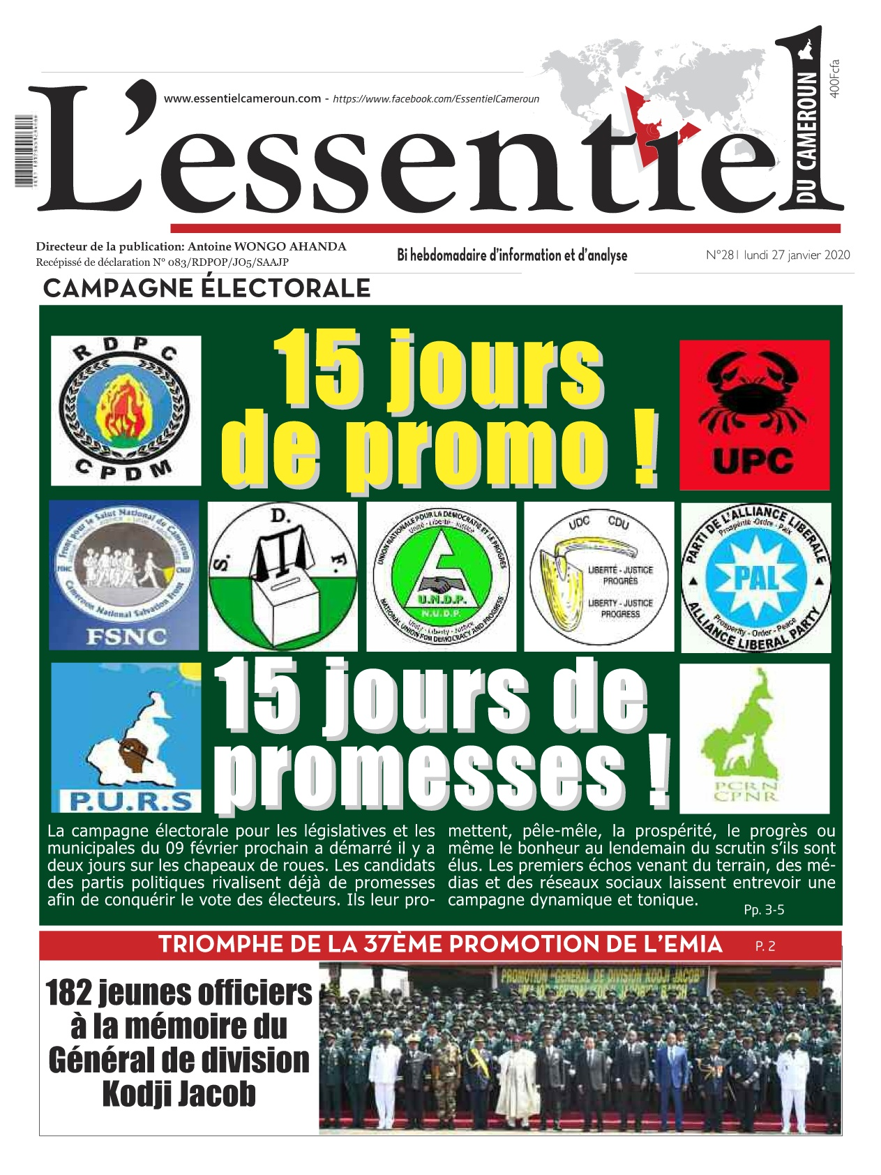 L'essentiel du Cameroun - 27/01/2020