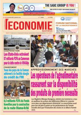 Le Quotidien de l'Economie - 15/01/2020