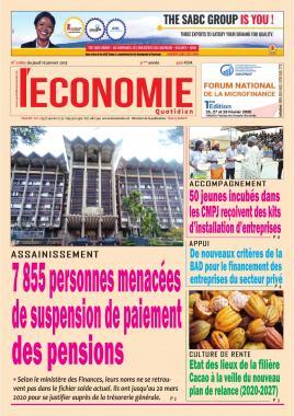 Le Quotidien de l'Economie - 16/01/2020