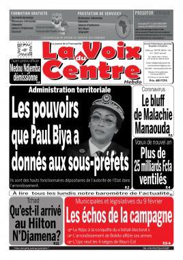 LA VOIX DU CENTRE - 27/01/2020