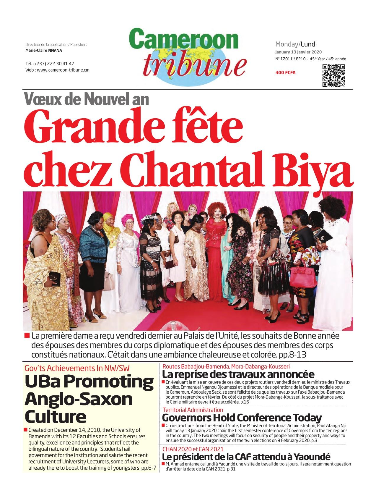 Cameroon Tribune - 13/01/2020