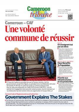 Cameroon Tribune - 15/01/2020