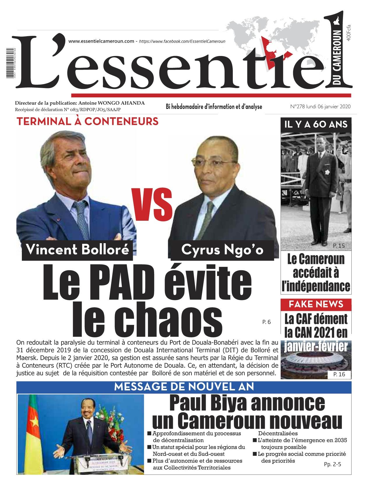 L'essentiel du Cameroun - 06/01/2020