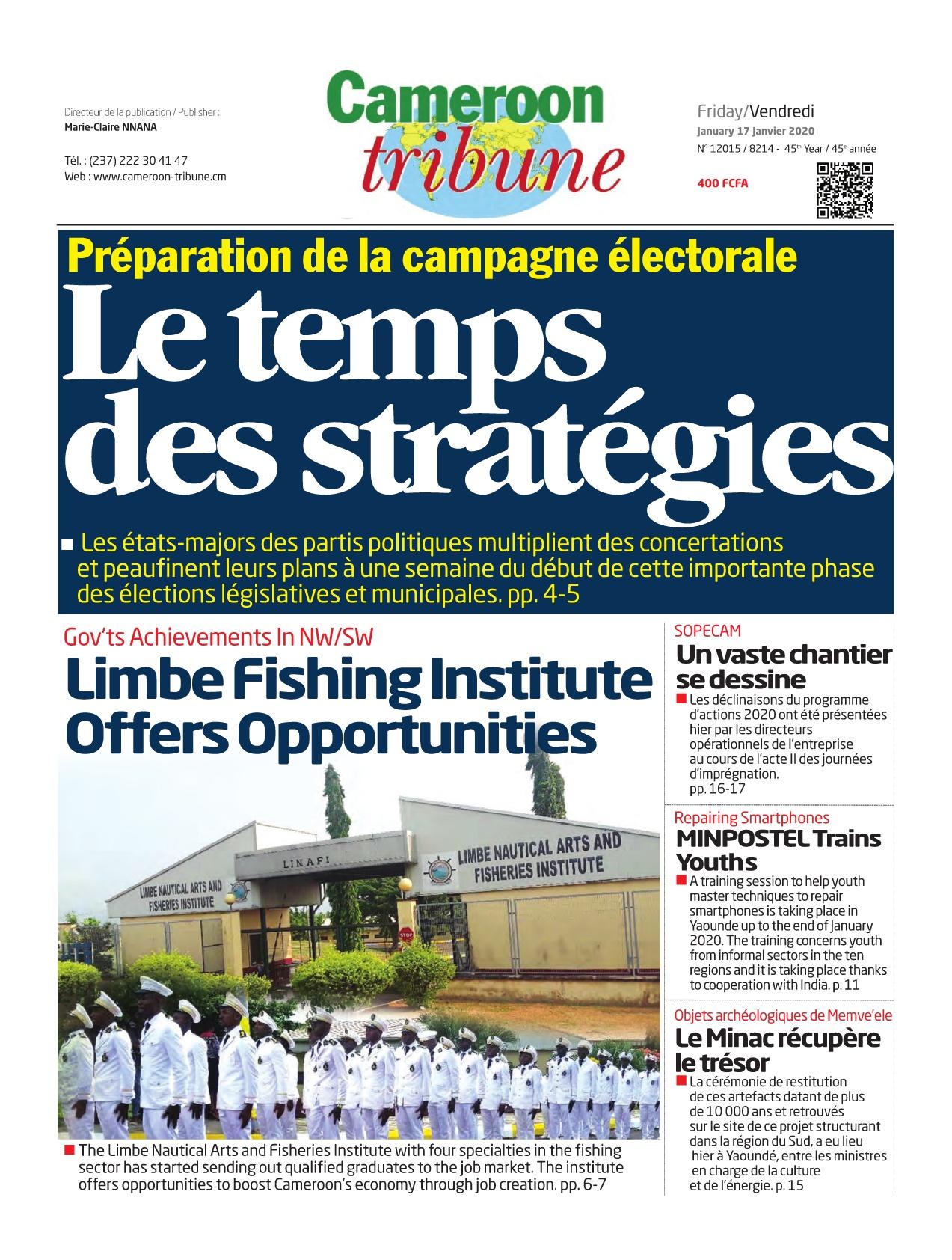 Cameroon Tribune - 17/01/2020