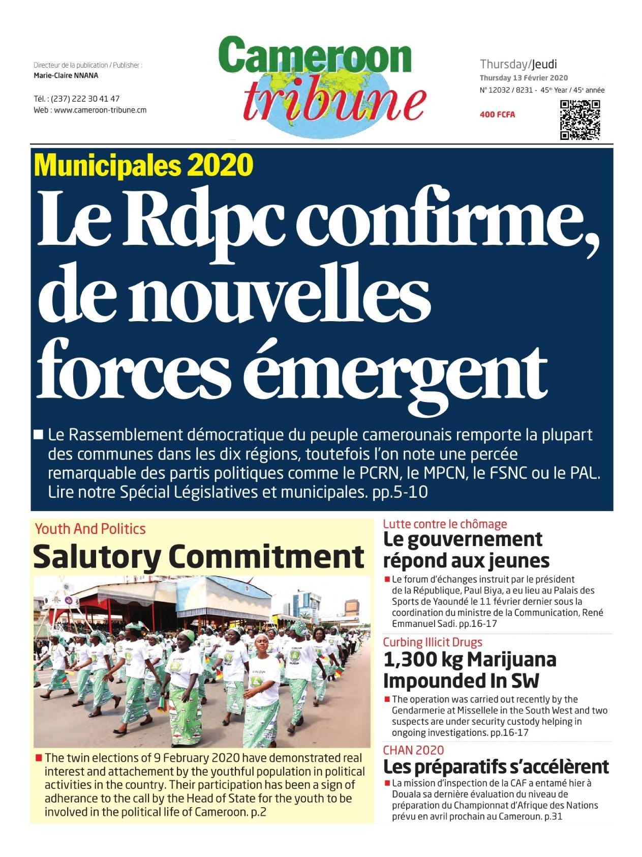 Cameroon Tribune - 13/02/2020