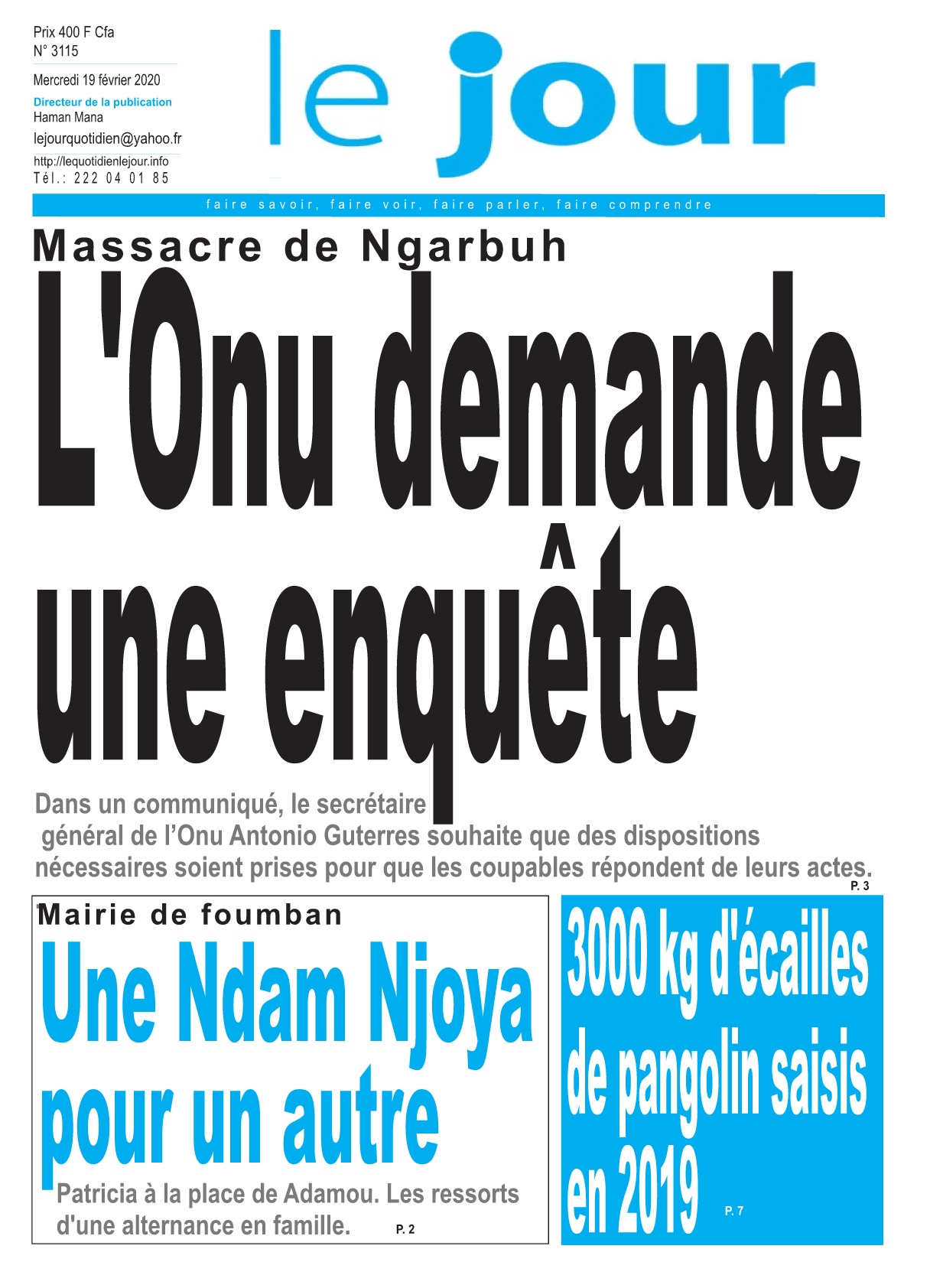 Le Jour - 19/02/2020