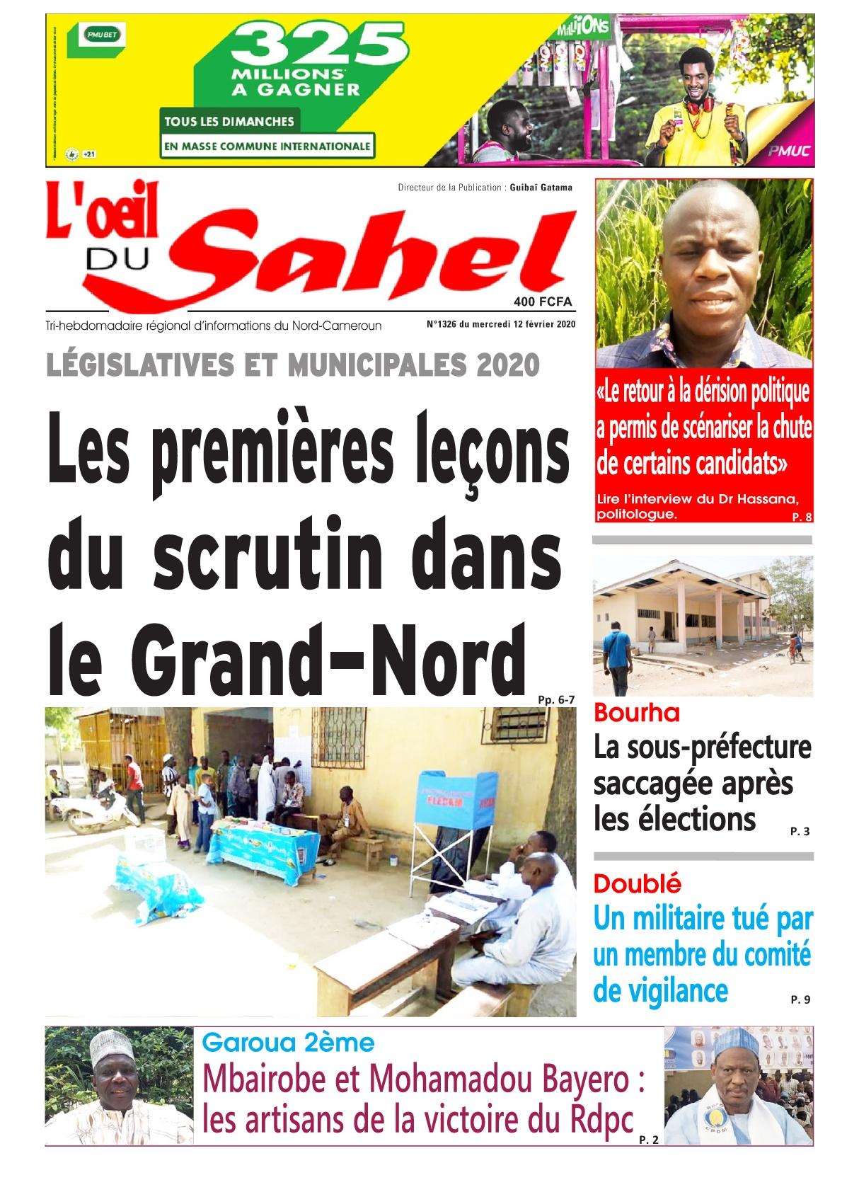 L'oeil du Sahel - 12/02/2020