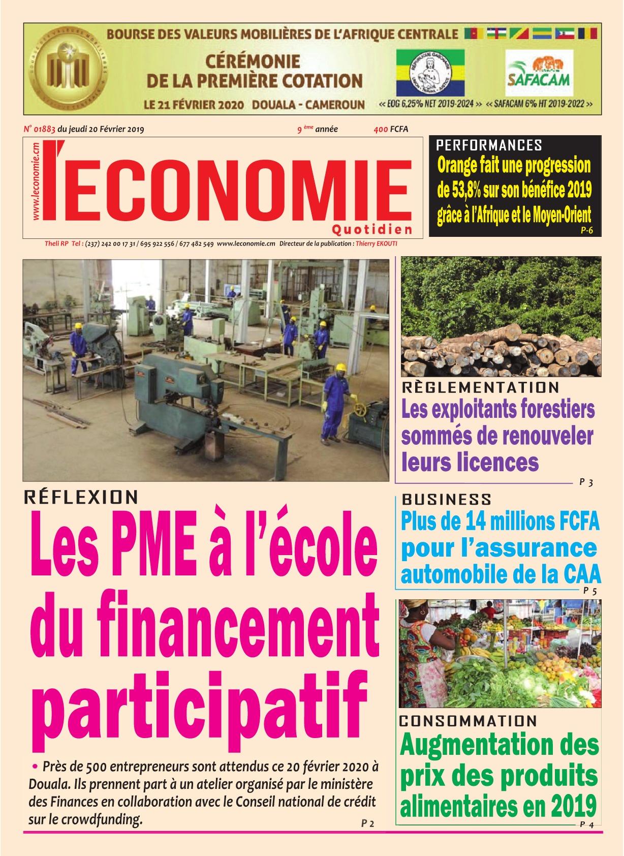 Le Quotidien de l'Economie - 20/02/2020