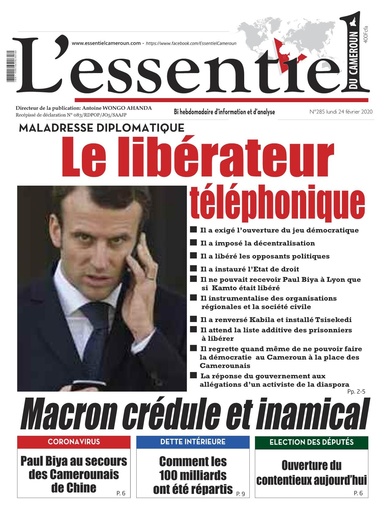 L'essentiel du Cameroun - 24/02/2020