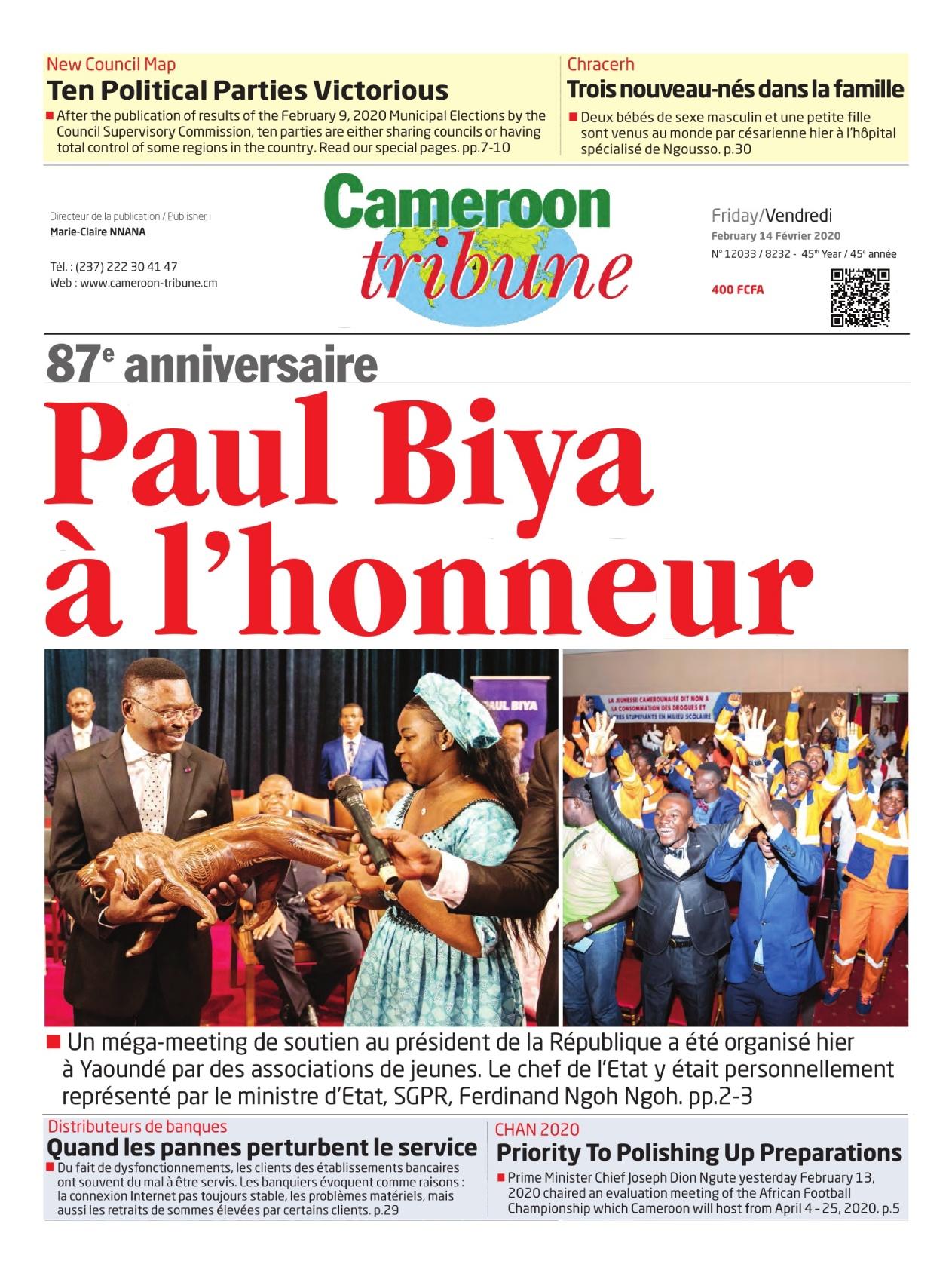 Cameroon Tribune - 14/02/2020