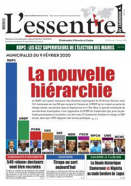 L'essentiel du Cameroun - 17/02/2020