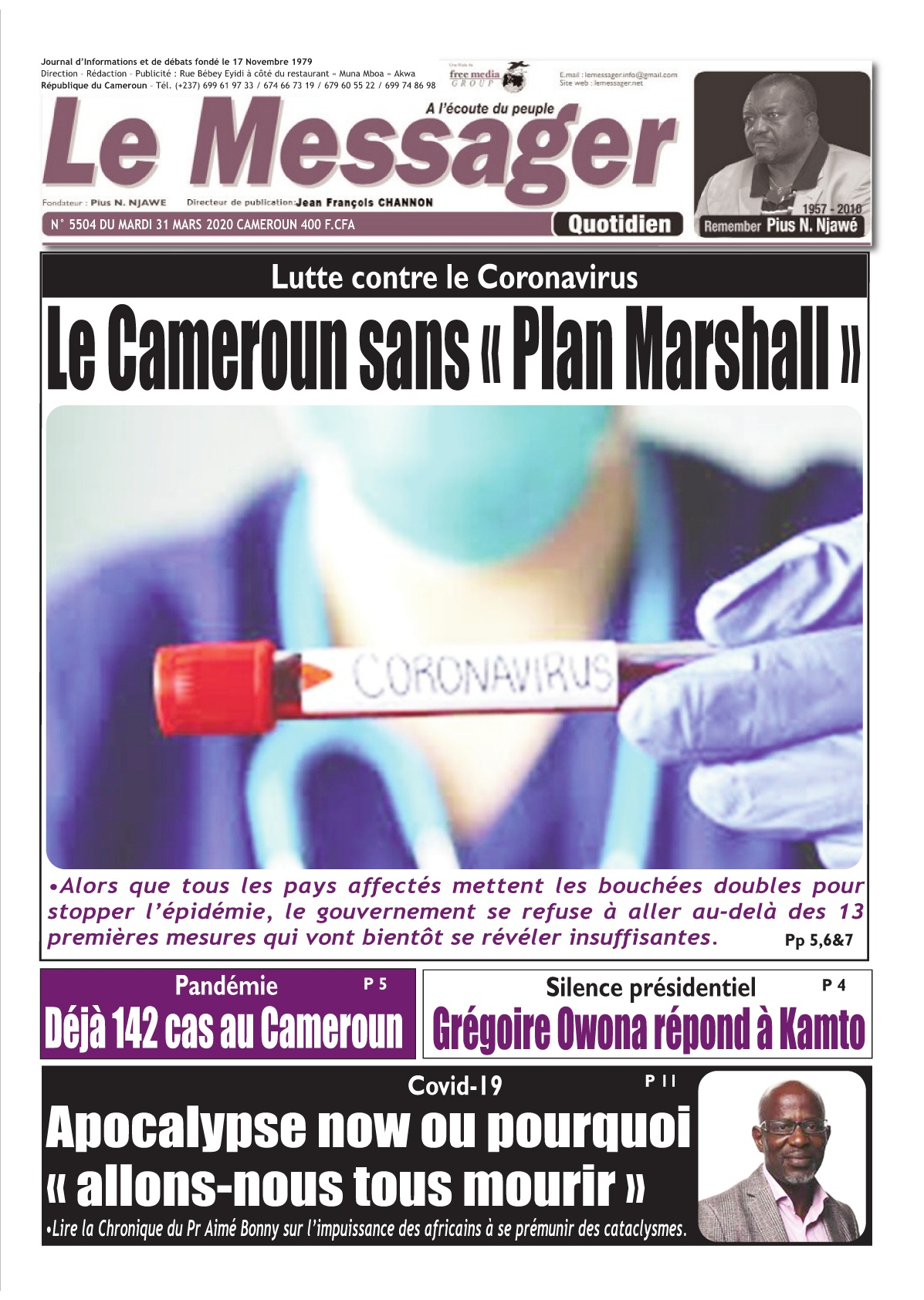 Le Messager - 31/03/2020