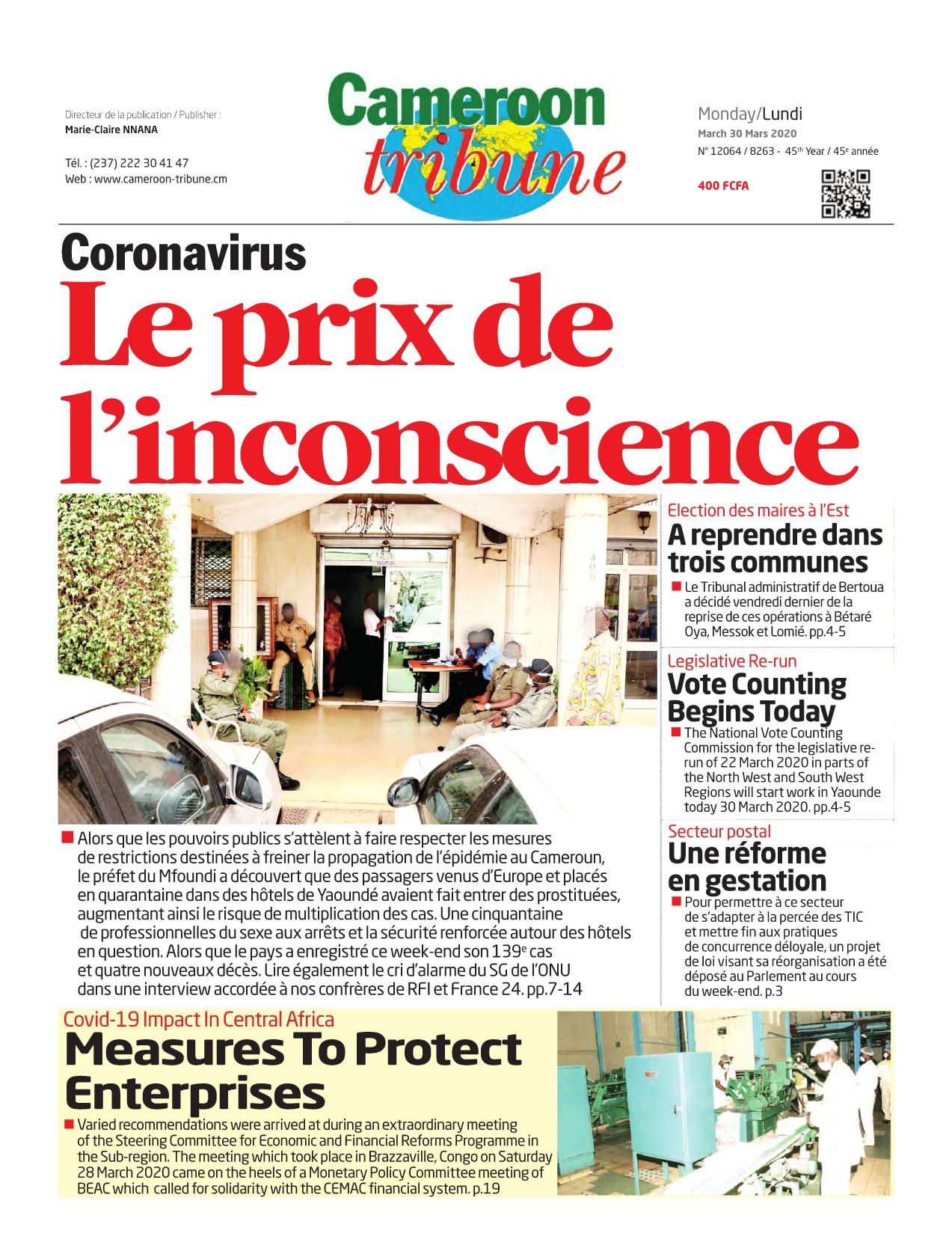 Cameroon Tribune - 30/03/2020