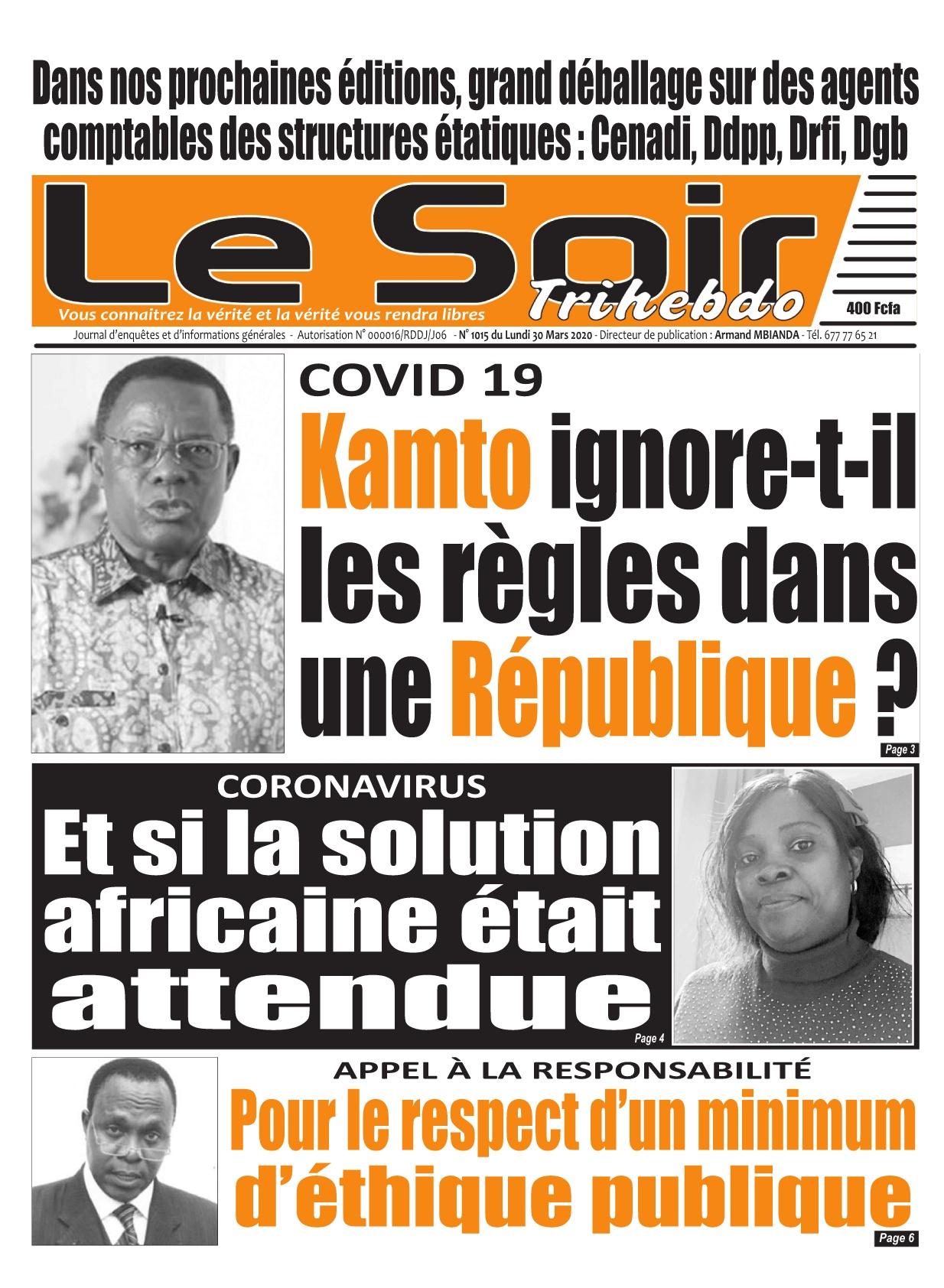 Le Soir - 30/03/2020